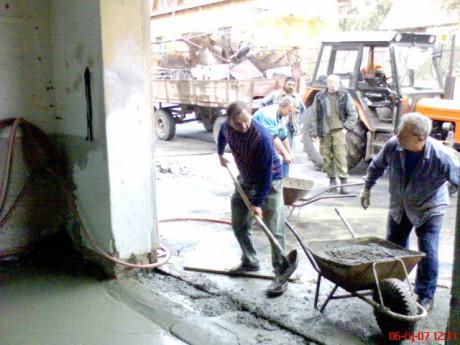 Podlaha garaz